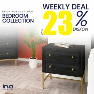 Minggu baru, weekly deals dari #inahomeandliving juga baruu! Cek langsung di Marketplace Shopee dan Tokopedia Ina Home and Living untuk koleksi Kamar Tidur dari kami 😍