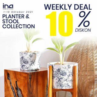 Weekly deal minggu ini 🥰 Buruan cek di Marketplace Ina Home and Living, bisa Shopee maupun Tokopedia 😍 Bisa juga langsung melalui WA ya 👍